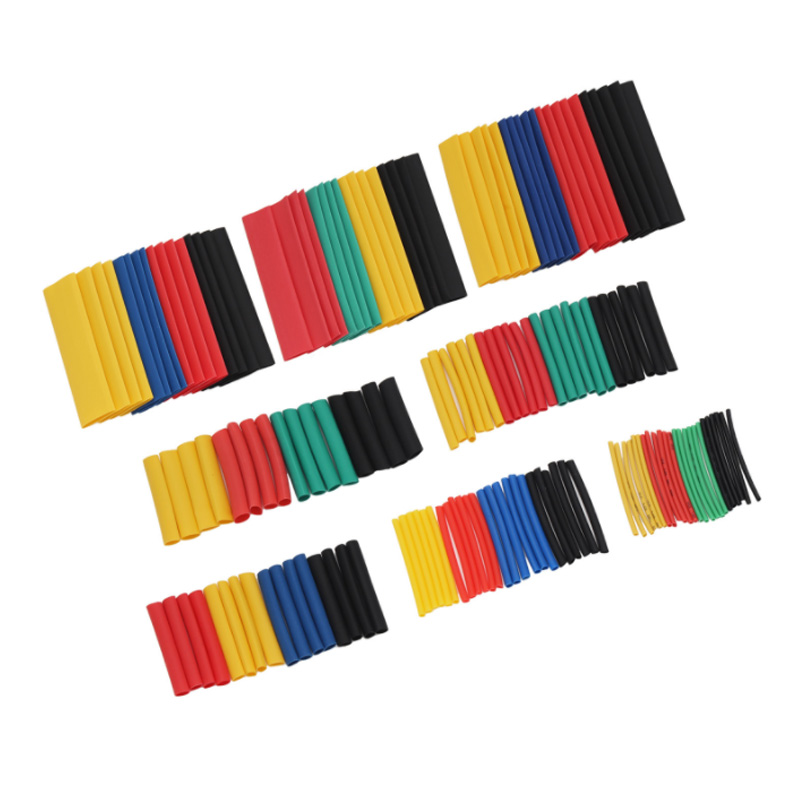 328Pcs Assortment Polyolefin Heat Shrink Tubing Tube Sleeving Wrap Wire Cable Kit 8 Size Multicolor For Rc Drone