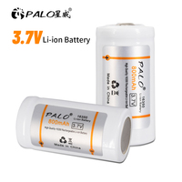 PALO 100% Original 800mAh 3,7 V Li-Ion Wiederaufladbare 16340 Batterien CR123A Batterie Für LED Taschenlampe 16340 16350 CR123A Batterie
