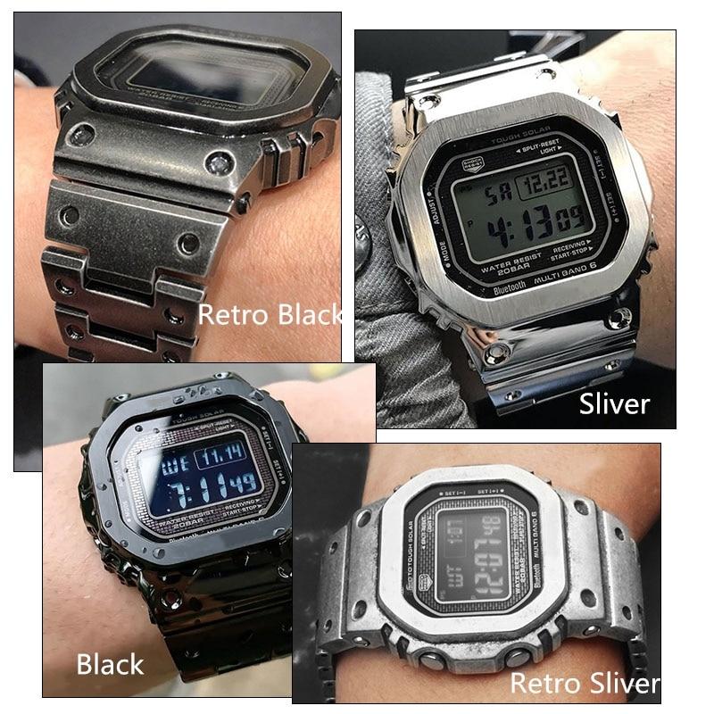 GMW-B5000 Bracelet de montre lunette/boîtier Bracelet en métal Bracelet en acier inoxydable 316L de haut niveau avec outils 5 couleurs cadeau pour les vacances - 5