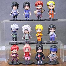 12 pçs/set Sakura Hinata Shippuden Jiraiya Q Versão Figuras PVC Brinquedos Bonecas
