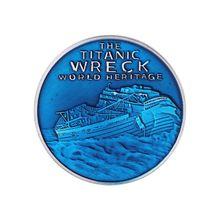 Titanic остаточная оболочка памятная монета Настольный дисплей украшения ремесла Коллекция монет