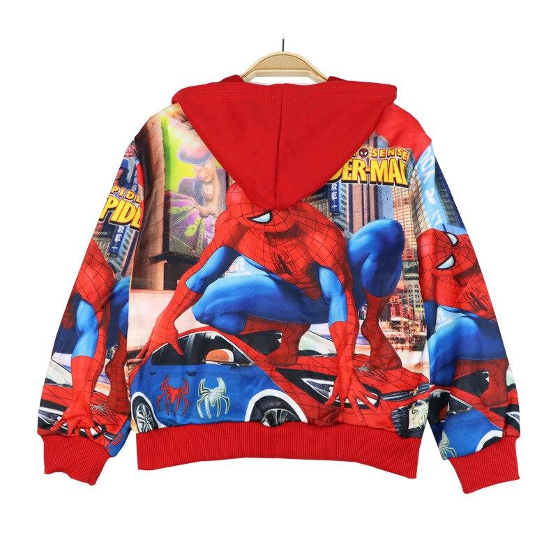 Spiderman crianças roupas esportivas meninos meninas jaquetas crianças com capuz blusão infantil hoodies da criança do bebê casaco para crianças 2-8y