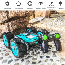 2.4g Deformation Remote Control Car 360° Rotation Large Double-Sided Stunt Car Light High-Speed Off-Road Climbing Cars Toys Gift boy gift four wheel drive climbing 2 4g tipping remote control car off road stunt twisting high speed car deformation torque car