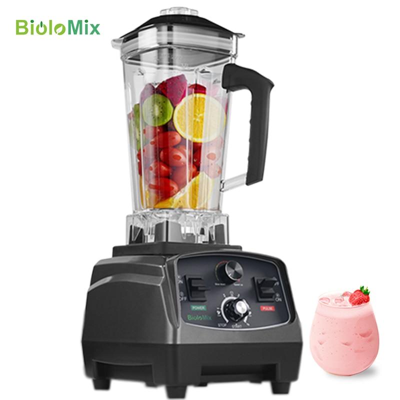 3HP 2200 Вт Сверхмощный коммерческий класс автоматический таймер блендер миксер соковыжималка фруктовый кухонный комбайн ледяные смузи BPA Free 2L Jar