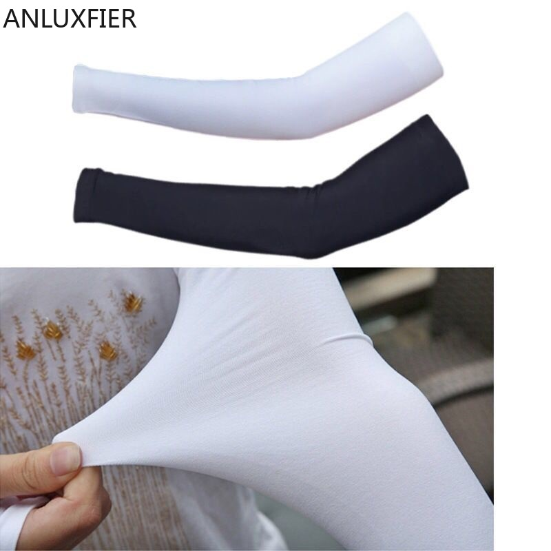 H9975 Ice Silk Sun Protection Arm Sleeves Women Men Cool Breathable Summer Long Thin Outdoor Riding Anti-ultraviolet Arm Warmers