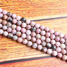 Rose Stone Natural Stone Bead Round Loose Spaced Beads 15 Inch Strand 4/6/8 / 10mm For Jewelry Making DIY Bracelet Necklace