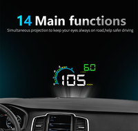 D3000 hud Display Car Digital Speedometer Head Up Display Windshield Projector Overspeed RPM Alarm