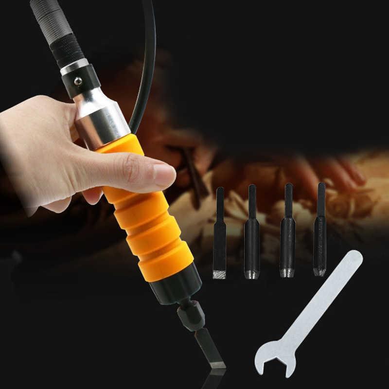 Cocina eléctrica muebles carpintería raíz tallado cuchillo herramienta Mango Flexible eje cincel tallado madera