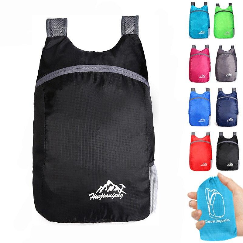 20L Portable Lightweight Outdoor Backpack Men Women Travel Hiking Ultralight Foldable Waterproof Backpack Folding Daypack Bag