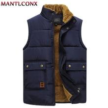 Men's Vest Coats Sleeveless Jacket Warm Thicken Plus-Size Winter Casual New MANTLCONX