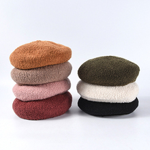 Wholesale 7 Colors New Fashion Wool Roll Berets For Women Warm Flat Caps Ladies French Hats Pink Black Mushroom Hat Korean Style все цены