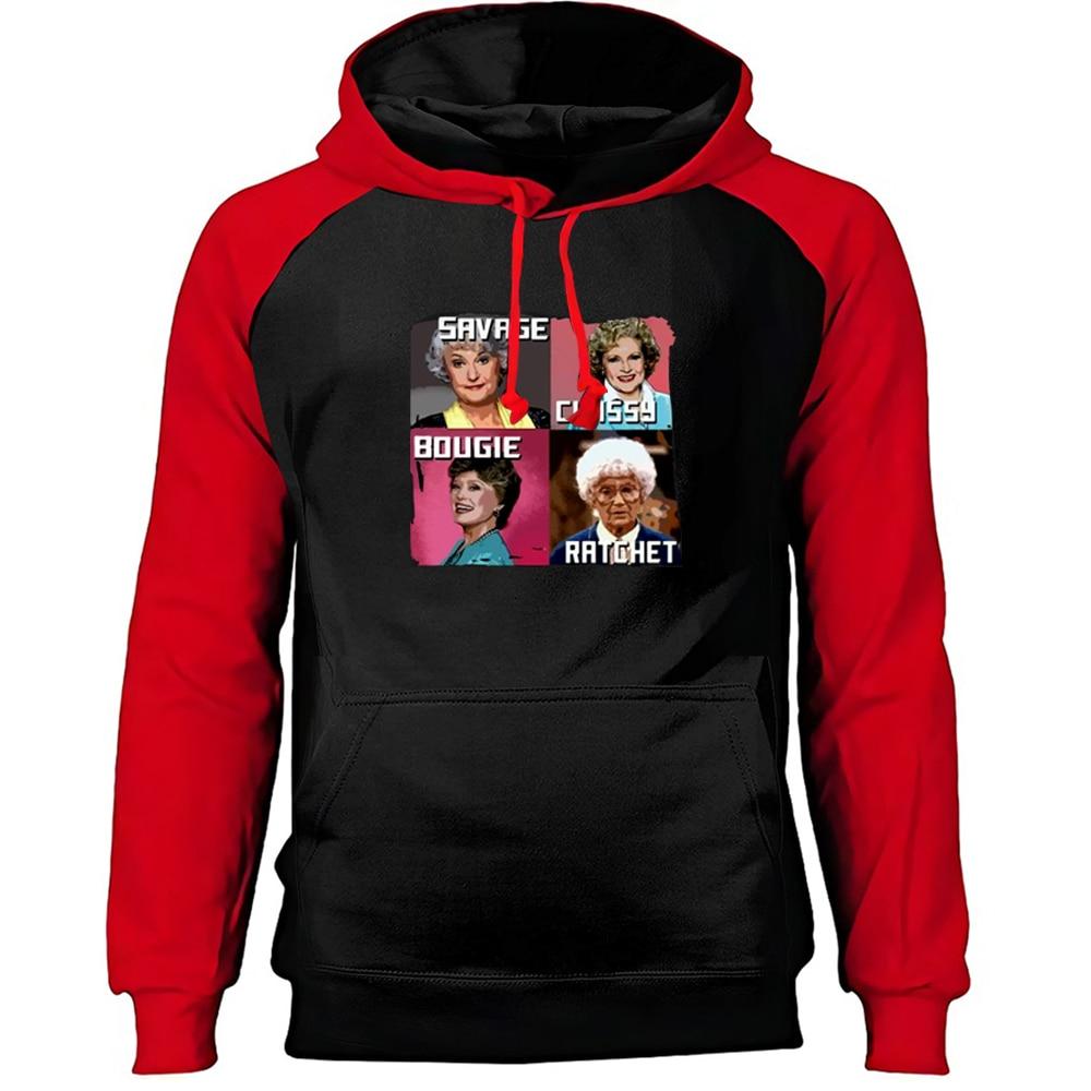 Four Beautiful Lady Savage Classy Raglan Hoodie Top Men Warm Street Thick Pullover Hoodie Winter Outdoor Printed Sweatshirt 3