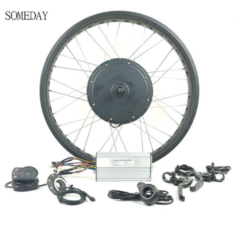 48v1500w Fat / Snow Bike Conversion Kit 20inch 26inch Wheel Rear Rotate Hub Motor Led900s