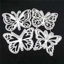 4pcs Butterfly Metal Cutting Dies Scrapbooking Die DIY Stencils Photo Album Embossing Paper Card Making Knife Mold Crafts Dies