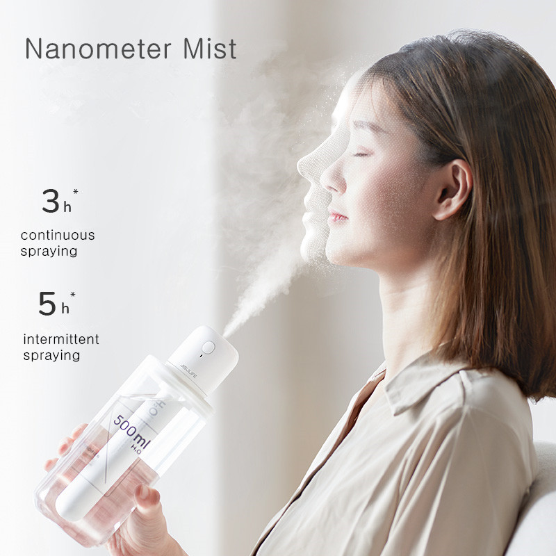 White Portable Ultrasonic Air Humidifier With 1100mAh Battery USB Car Cool Mist Maker Aromatherapy Diffuser Wireless Humidifier