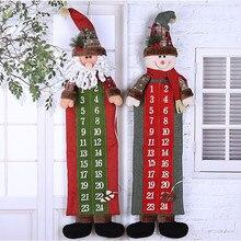Рождественский Адвент-календарь Санта Клаус Снеговик висящий Рождественский календарь дверь настенное окно Рождественский Декор подарок Прямая поставка/c