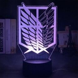 3D светодиодный светильник для косплея по аниме «атака на Титанов» (для дома номер Декор Светильник классный подарок для маленького ребенка ...