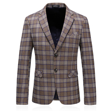 plus size khaki men suits slim fit casual jacket cotton men blazer autumn fashion single button men blazer velvet цена 2017