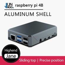 Argon NEO Raspberry Pi 4 funda diseño minimalista, caja de aluminio delgada, enfriamiento pasivo, robusto pero portátil, deslizante, magnético