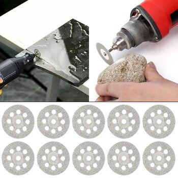 цена на 60pc Diamond Cutting Discs Sanding Grinding Wheel Circular Saw Blade Woodworking Metal Dremel Mini Drill Rotary Tool Accessories