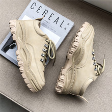 New Mens Vulcanize Shoes 2019 Autumn Winter Fashion Platform Lace Up Balck Sneakers Wear-Resisting Male Causal