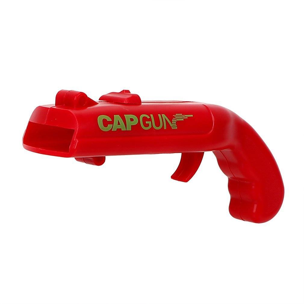 Bottle Opener Gun Shape,Bottle Opener Plastic Gun Launcher Shooter Beer Openers Easily Recycle Caps For Party Drinking