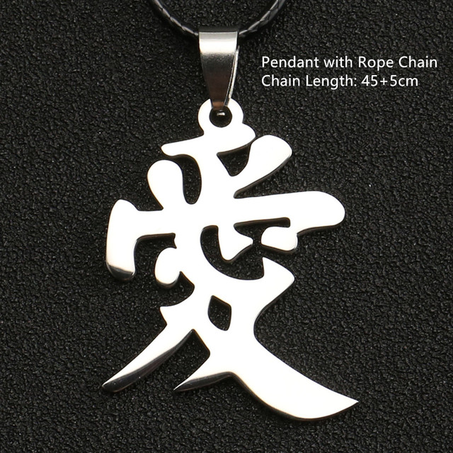 Naruto Kunai Ninja Gaara Love letter Necklace Sasuke Itachi jewelry Pendant