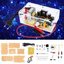 LM317 Power Supply Board diy Kit Adjustable Voltage AC 220V to DC 1.25-12V Step-down Module PCB Board Electronic kits EU Plug