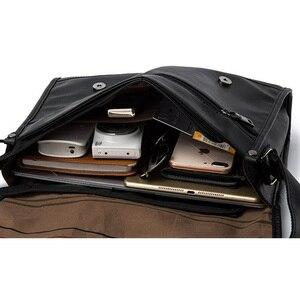 Image 4 - ファッション男の革ショルダーバッグバッグ旅行バッグ男性ブリーフケースブランドの高級メッセンジャーバッグ男性のラップトップビジネスクロスボディメンズバッグ