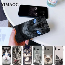 cat kitty blue eyes cute Silicone Case for Samsung A3 A5 A10S A30S A50S A6 Plus 2018 A7 A8 A9 A10 A30 A40 A50 A60 A70 J6