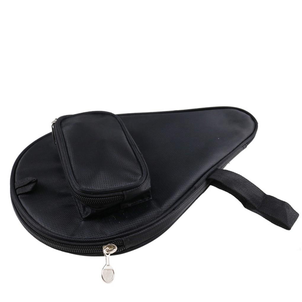 Table Tennis Rackets Bag Zipper Design Ping-pong Ball Racket Storage Pouch Training Sports Bag