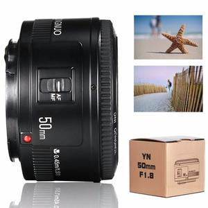 Image 2 - YONGNUO YN EF 50mm f/1.8 soczewki AF przysłony automatyczne ustawianie ostrości YN50mm f1.8 obiektyw do modeli Canon EOS lustrzanki cyfrowe