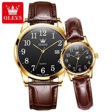 OLEVS New Couple Watches Fashion Luxury Brand Quartz Wristwatch Waterproof Business Men Watch Women Watches Relogio Feminino