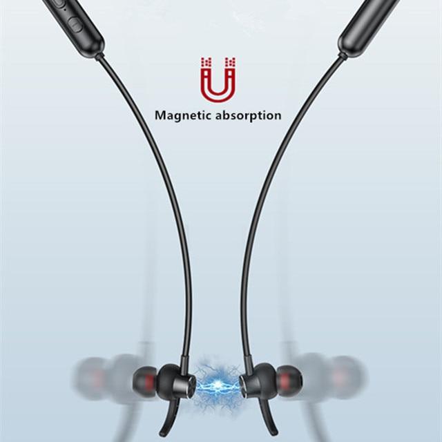 Magnetic Sports Running Headset- Waterproof Sport earbuds Noise reduction Headphones 6
