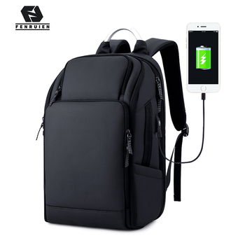 Fenruien Brand 17 Inch Laptop Backpack Men USB Charging Travel Backpacking School Bag Nylon Waterproof Anti theft Backpacks fenruien brand 17 inch laptop backpack men usb charging travel backpacking school bag nylon waterproof anti theft backpacks