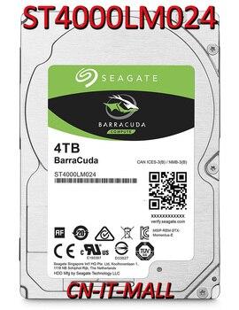 "Disco duro interno para ordenador portátil Seagate baracuda ST4000LM024 4TB 5400 RPM 128MB Cache SATA 6,0 Gb/s 2,5 ""15mm"