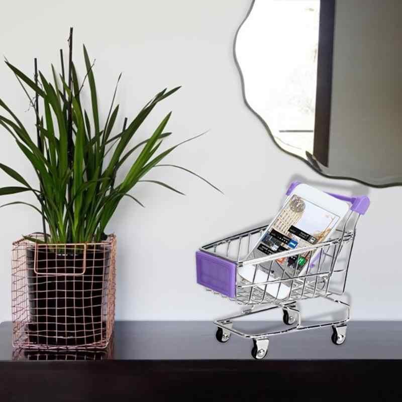 عربة طفل صغير سوبر ماركت عربة اليد لعبة عربات تخزين عربة تسوق قابلة للطي سلة لعب الأولاد 3 ألوان اكسسوارات أثاث
