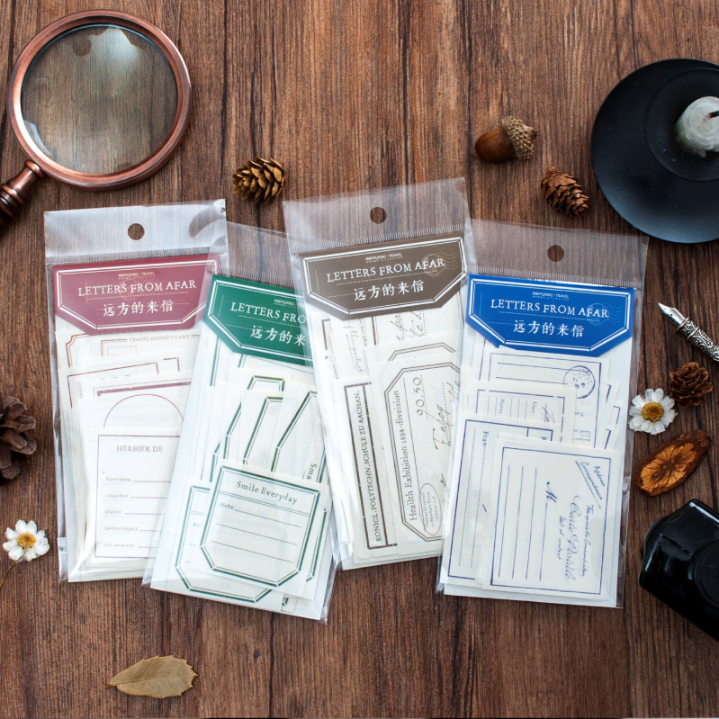 1set/lot Memo Pads Sticky Notes Letter From Afar Paper Diary Scrapbooking Stickers Office School Stationery Notepad