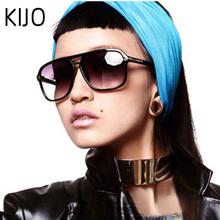 KIJO 2019 Fashion Men Cool Square Style Gradient Sunglasses Driving Vintage Bran