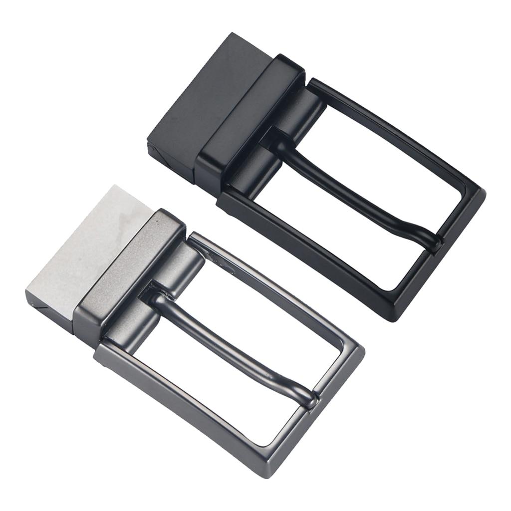Men Reversible Metal Alloy Belt Buckles Replacement Rectangular Pin Buckles Belt Buckle