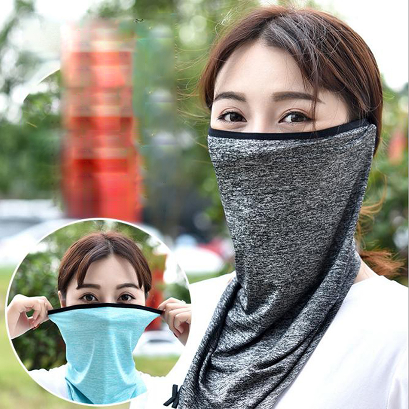 Triangle Sport Scarves Ice Fabric Hiking Face Cover Breathable Fishing Cycling Scarf For Men Women