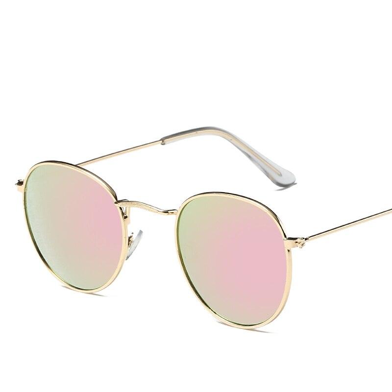 WOMEN Vintage Sunglasses For WOMEN  2018 Color Eye Lenses Round Glasses Transparent Retro Sunglasses Luxury Brand Eyeglasses