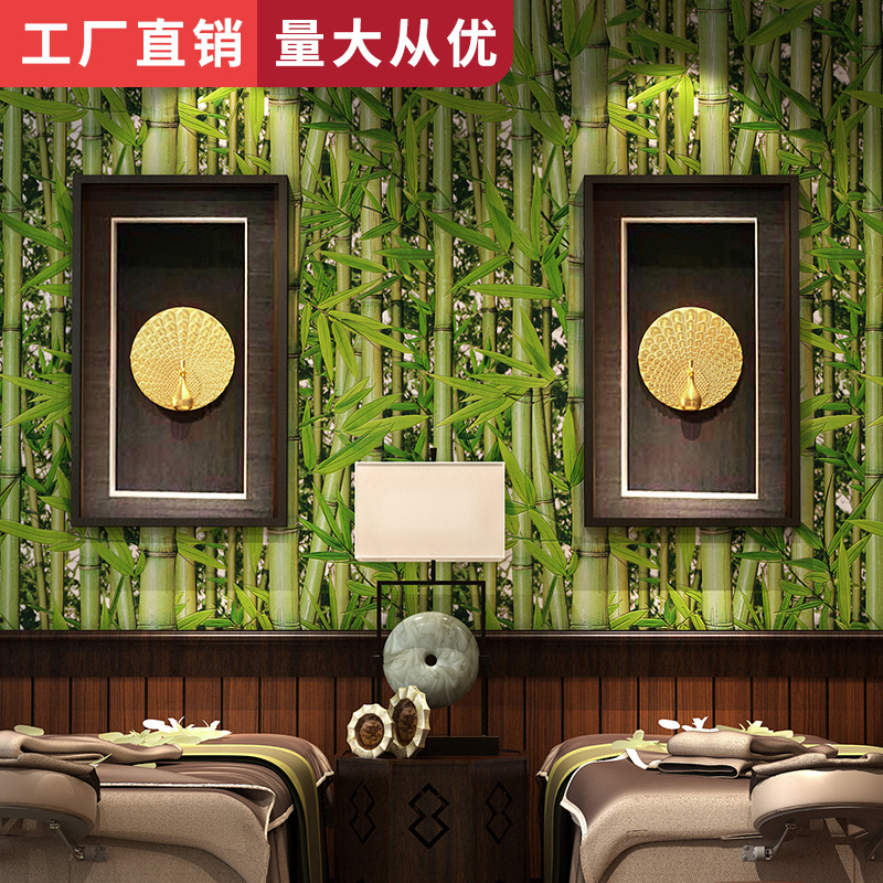 Background Of Television In The Drawing Room Coffee Shop Tea House Library Restaurant Retro Chinese Style Zhuzilin Green Fresh W