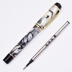 Image 1 - Kaigelu 316 Selüloit tükenmez kalem Pürüzsüz Dolum, Güzel Mermer Beyaz Desen Yazma Hediye Kalem Ofis Iş Malzemeleri