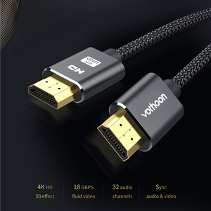 Image 2 - Vothoon 4K HDMI Cable HDMI to HDMI 2.0 HDR 4K 60Hz Cable for TV LCD Laptop Projector Computer PS4 TV 1m 2m 3m HDMI Cable