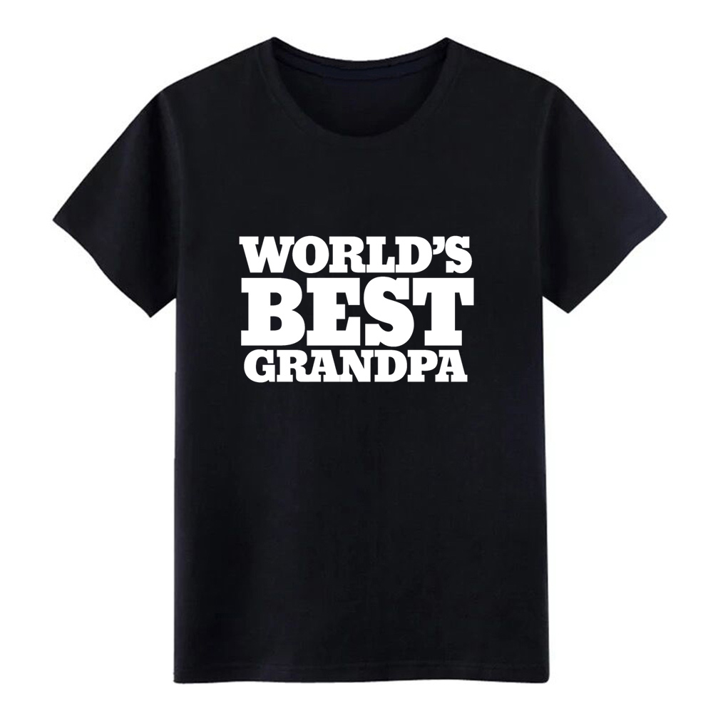 worlds best grandpa t shirt men create tee shirt round Neck solid color Interesting New Fashion Summer Style slim shirt image