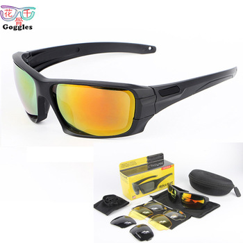 Wholesale rollbar Army Fans Glasses Four-Piece Set Polarized Glasses Changeable PCs Tactical Glasses Outdoor Glasses