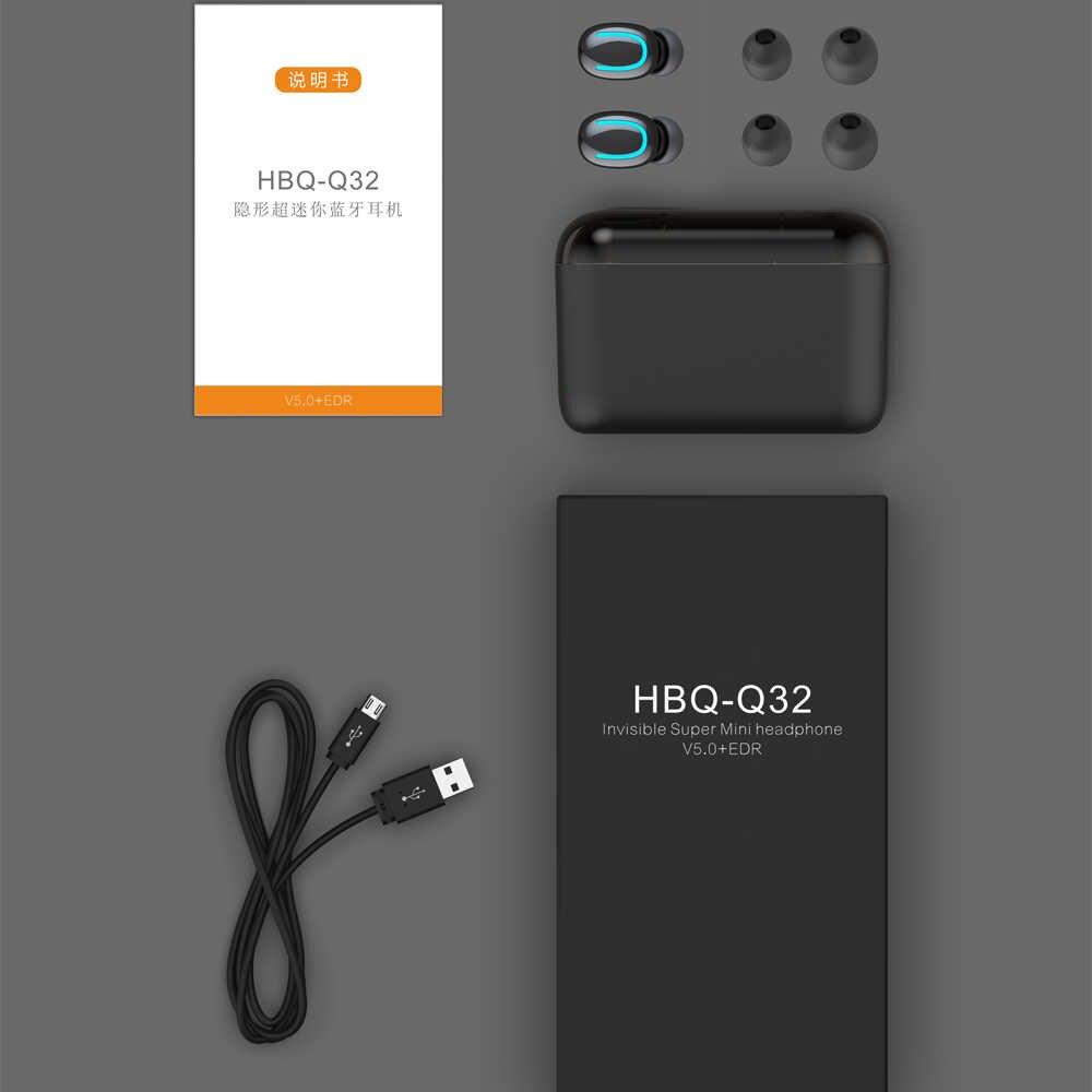 Auriculares Bluetooth 5,0 HBQ TWS auriculares inalámbricos Bluetooth auriculares manos libres auriculares deportivos auriculares para juegos