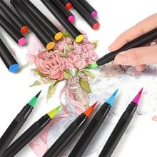 24 Color Soft Head Watercolor Pen Set Children's Water Brush Art Painting Halo Dye Watercolor Brush Student School