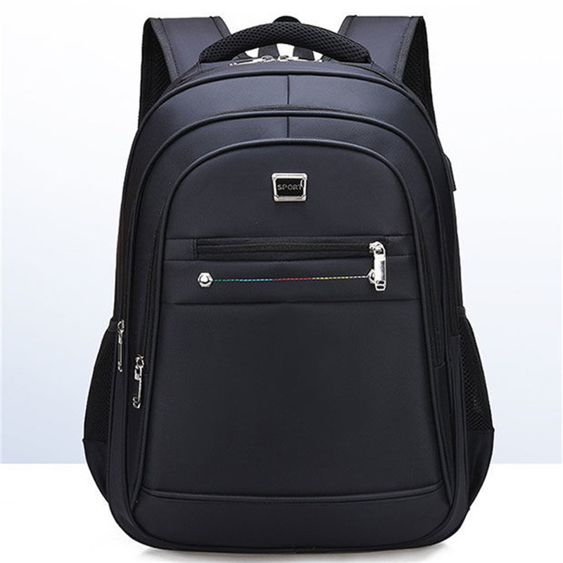Men's Backpack Oxford Cloth Material British Leisure College Style High Quality Multi-functional Design Large Capacity